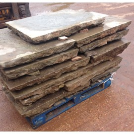 100 sq yds 3 - 4 inch Reclaimed Yorkstone Flagstones