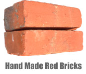 Reclaimed Hand Made Red Bricks