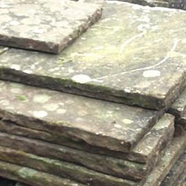 2-3 inch Reclaimed  Yorkstone Flagstones