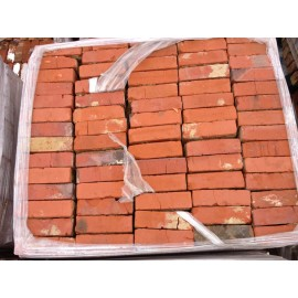 Reclaimed red wire cut bricks