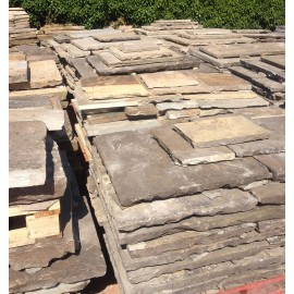 Reclaimed Smooth Yorkstone Flagstones | Must Sell